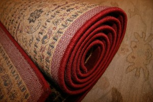 rolling a rug or carpet