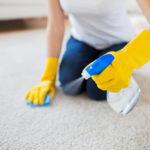 spraying on carpet